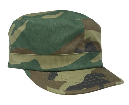 58154401bef Image Unavailable. Image not available for. Color  Woodland Camouflage  Adjustable Fatigue Cap ...