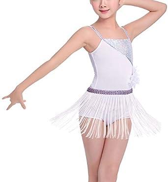 dPois Vestido Danza Latina Cuentas Lentejuelas Tango Salon Baile ...