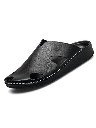(レディーバード81)LADYBIRD81メンズサンダルレザーカジュアル革men's本革牛皮オフィスビーチ海プール父の日ブラック26.5cm
