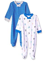Amazon Essentials Baby Boys 2-Pack Sleep and Play