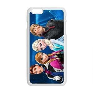 diy zhengHappy Frozen Princess Elsa Anna Kristoff Olaf Sven Hans Cell Phone Case for iPhone 6 Plus Case 5.5 Inch
