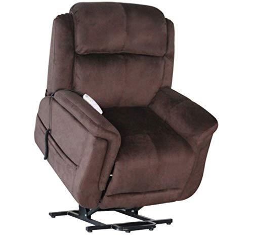 Serta Hampton 872 Perfect Comfort Infinite Position Dual Motor Lift Chair Power Lay Flat Recliner Sleeper - Walnut Brown
