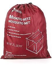 Sekey Mosquitera para cama simple con Kit de colocación, Cortina, Protección repelente contra Insectos, malla antinsectos con rápida y fácil instalación, Blanco