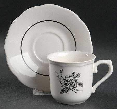 - Lenox Ebony Rose Cup and Saucer Set