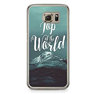 Samsung Galaxy S6 Transparent Edge Phone Case Top Of The World Phone Case Mountain Phone Case Winters Samsung S6 Cover with Transparent Frame