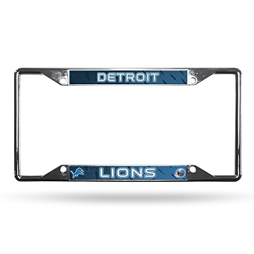 Rico Industries NFL Detroit Lions License Plate Frame, One Size, Team Color