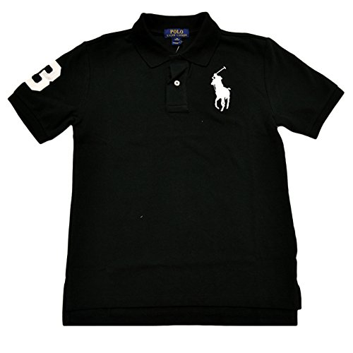 Polo Ralph Lauren Boys Mesh Big Pony Logo Polo (Small , Black) - Ralph Lauren Polo Shirts Kids