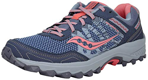 Saucony Grid Excursion TR12 Running Shoes (8 M US, Grey/Pink)