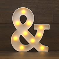 YOUZONE Marquee Letter Lights Sign, Light Up Alphabet Letters for Wedding Birthday Party Battery Powered Christmas Lamp...