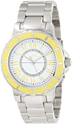 a_line Women's AL-80009-02YL Marina White Dial Stainless Steel Watch