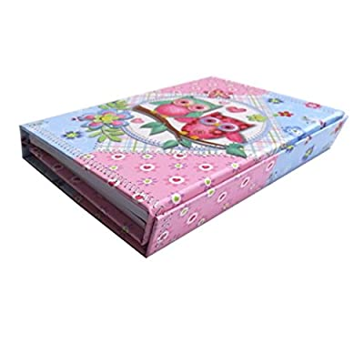 Girls Mini Organiser with Magnetic Closing Cover - Owls Design, Size 6.3