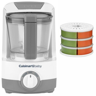 Baby Food Maker, Bottle Warmer with Baby Food Storage & Reheat System