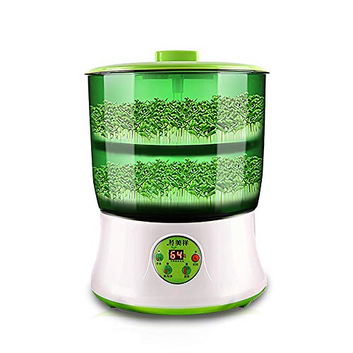 2 Layers Intelligence Bean Sprouts Machine Upgrade Large Capacity Thermostat Green Seeds Grow Automatic Bean Sprout Machine