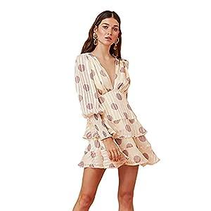 Keepsake The Label Women's Oblivion Long Sleeve Plunging Fit & Flare Mini Dress