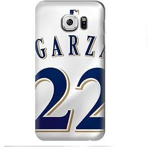 S6 Edge Case, MLB - Milwaukee Brewers Matt Garza #22 - Samsung Galaxy S6 Edge Case - High Quality PC Case