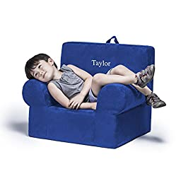 Jaxx Julep Personalized Kids Chair - With Custom Embroidery, Blueberry