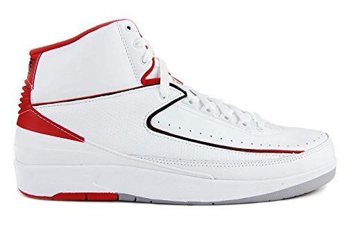 Air Jordan 2 Retro BG White/Black-Varsity Red-Cement Grey (6Y) (Varsity Red Cement)