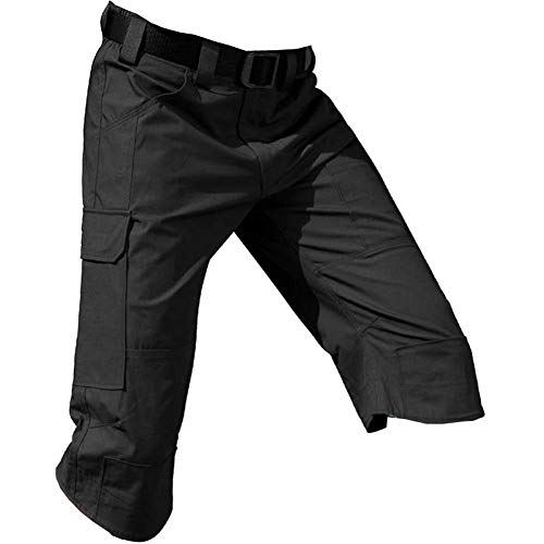 Men's Tactical Shorts Water Resistant Multi Pockets Capri Operator Cargo ()