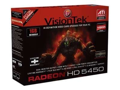 Visiontek 900358 Radeon HD 5450 Graphic Card - 650 MHz Core - 1 GB DDR3 SDRAM - PCI Express x16 - CrossFireX - DirectX 11.0 - HDMI - DVI - VGA