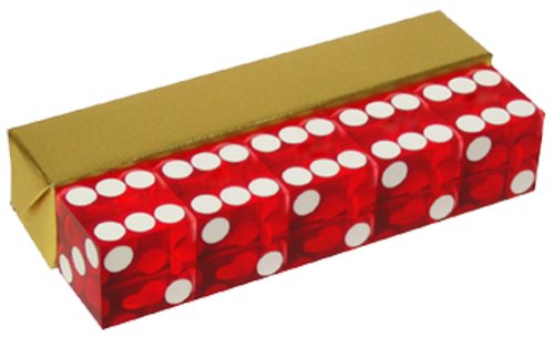 Red Casino Craps Dice 19mm Grade Set of 5 Razor Edge Stick