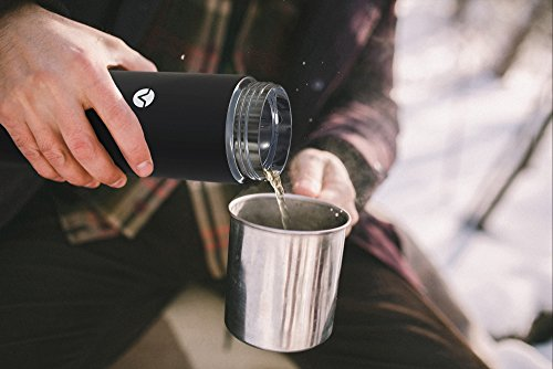 Vremi 17 oz Thermos Water Bottle Travel Mug - Insulated Stainless Steel Traveler Cup with Leak Proof No Spill Lid for Coffee Hot Cold Liquids - BPA Free Thermal Drink Containers for Car Holder - Black