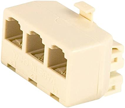 6 Pack of Philips 3 way Splitter White Makes 1 line into 3 separate SDJ6070H//17