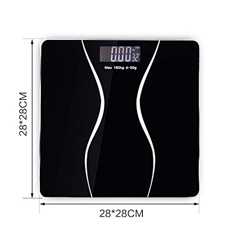 Bathroom Scales Floor Body Smart Electric Digital Weight Health Balance Scale Toughened Glass LCD Display -