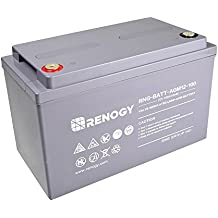 Renogy Deep Cycle AGM Battery 12 Volt 100Ah for RV, Solar, Marine, and Off-grid Applications