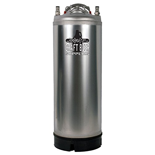 Home Brew Stuff Stainless Steel Keg with Ball Lock Connections – 5 gal.