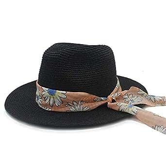 3cfd66a6640c5 Gorros Moda Para Mujer Sombrero Para El Sol Sombrero De Basic Paja Para  Playa Con Banda