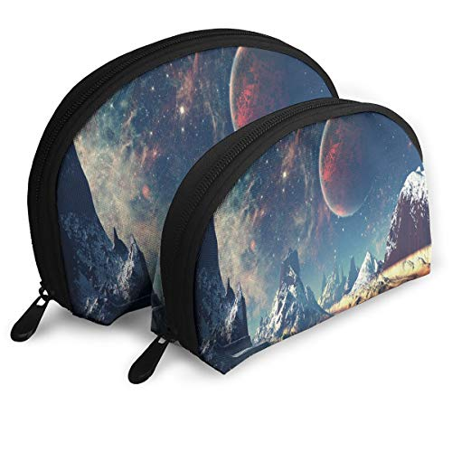 Makeup Bag Water During Starry Night Portable Shell Clutch Pouch For Women Halloween Gift Pack - 2