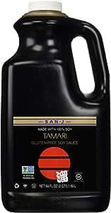 San-J Tamari Gluten Free Soy Sauce, Non GMO Black Label, 64 Ounce