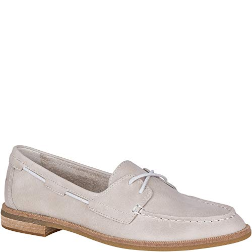 Sperry Women's Seaport Boat Shoe, Off Off White, 7 M US (Best Way To Tie Sperrys)