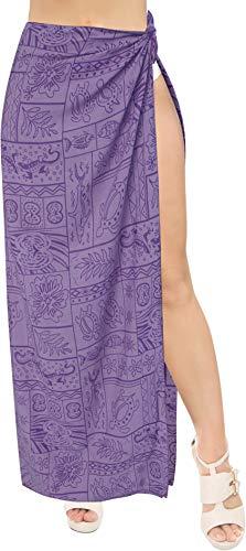 (Rayon Tie Slit Long Pareo Women Sarong Burnout Fabric 78