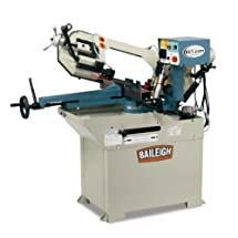 "Baileigh BS-250M Hydraulic Horizontal Mitering Band Saw, 110V, 1.5hp Motor, 1"" Blade, 8.93"" Round Capacity"