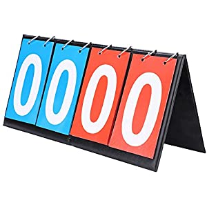 Tableau de Score Sportif Sport Comp/étition Scoreboards Basketball Tableau de Bord pour Volley-Ball//Basket-Ball//Tennis de Table//Football VGEBY1 2//3//4 Chiffre Sports Tableau Scoreboard