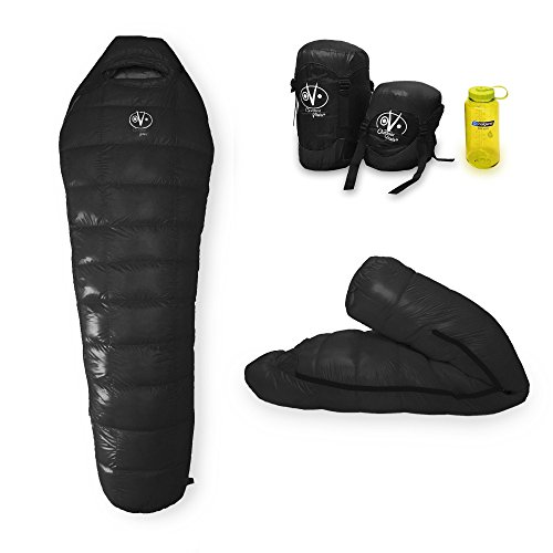Cheap Outdoor Vitals – Down 0 Degree Down Sleeping Bag, Down, Ultra Compactable, Light Weight, Compression Bag… (Black (Last Years Edition), Long)