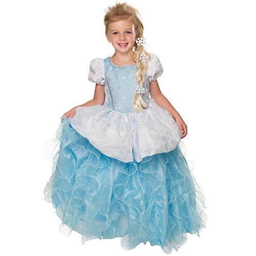 Blue Ice Princess Costume (Rubie's Deluxe Princess Krystal Costume, Ice Blue, Small)