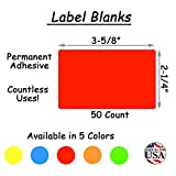 """Tag-A-Room Color Coded Labels 2"""" x 3"""" Red"""