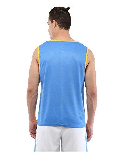 Yepme - Walton Muscle Tee - Weiß Und Blau