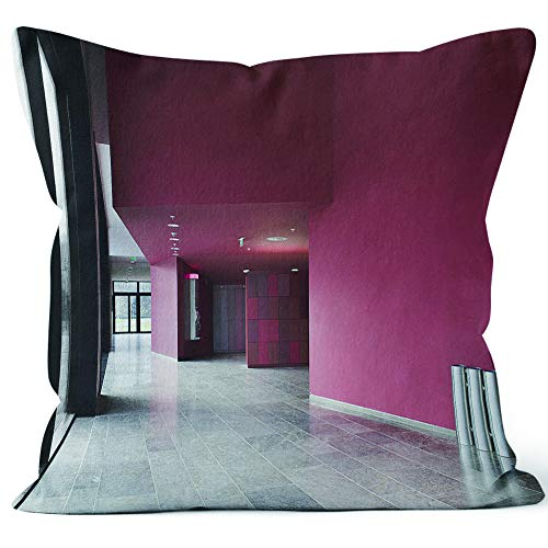 - Entrance Hall with lockers and Public Phone at The University Throw Pillow Cover,HD Printing for Sofa Couch Car Bedroom Living Room D¨¦cor,24