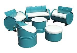 Tambor obras muebles del Patio conversación 6piezas de acero Ray