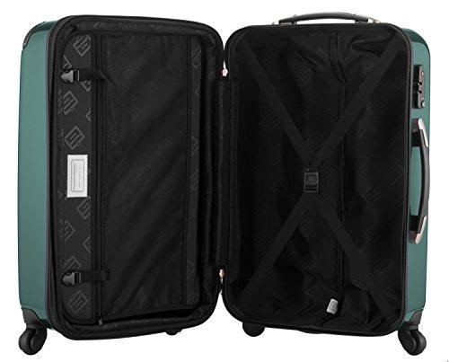 HAUPTSTADTKOFFER® 42 Liter Handgepäck · Boardcase · (55 x 35 x 20 cm) · Hochglanz · Zahlenschloss · WALDGRÜN