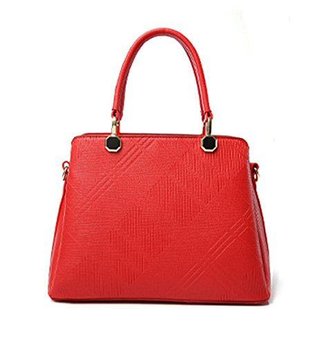 Wewod bolso elegante para mujeres bolso Bandolera de simple estilo moderno 31 x 22 x 14 cm (L*H*W) Rojo 2