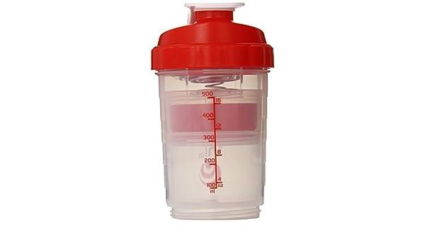 Araña 500 ml transparente/rojo Shaker: Amazon.es: Salud y cuidado ...