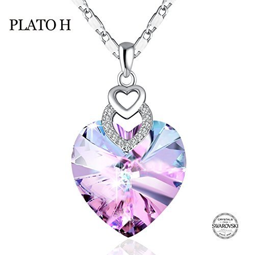 Crystal Heart Pendant Necklace - 6