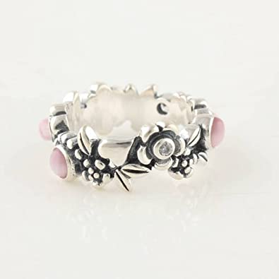 138b41770 Pandora Match Nature's Serenity Sterling Sterling Silver Ring with Pink Cz  Size 8: Amazon.co.uk: Jewellery