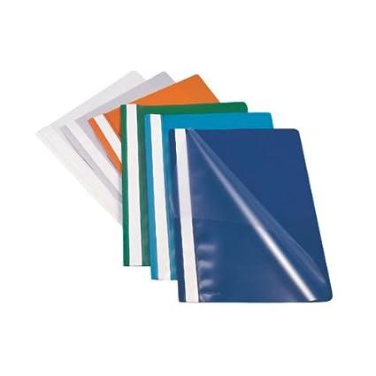 Esselte - Cartellina PPL Con Fermafogli 21X29,7 Blu Report File Esselte, Confezione 25 28315