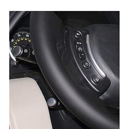 XHCP Couverture de Volant de Voiture en Cuir Artificiel Noir en PU Artificiel Bricolage pour Land Rover Range Rover 2003-2012