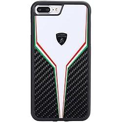 Lamborghini SC-D2 Carbon Fiber Back Cover for iPhone 7 Plus (White)